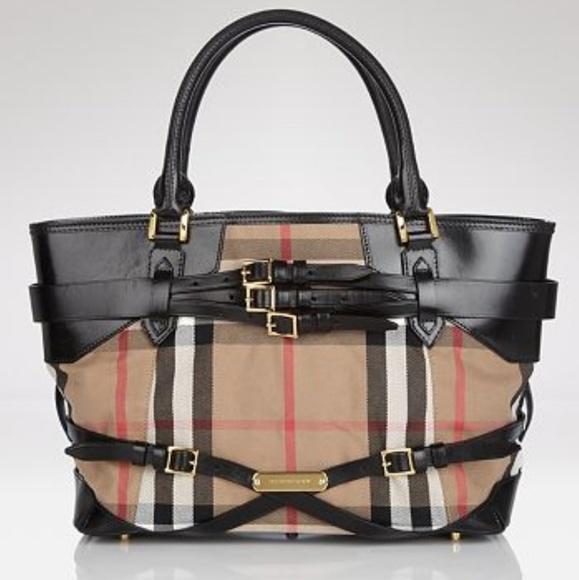 Burberry Handbags - BURBERRY Bridle Medium Lynher Tote NWOT aef89dd85a666